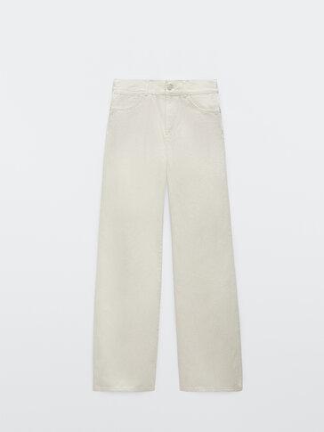 High-waist palazzo jeans