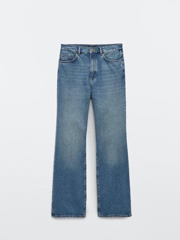 Прямые джинсы свободного кроя с высокой посадкой
