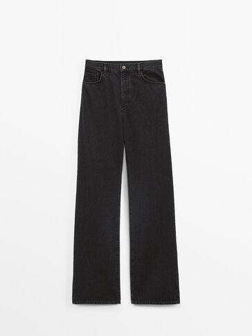 Mugava sirge lõike ja kõrge vöökohaga teksad