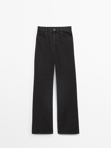 Relaxed fit, straight, high-waist jeans