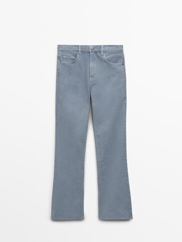 Cropped flare fit jeans