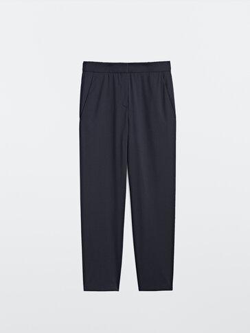 Pantalón negro lana