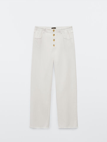 Straight-fit jeans with buttons