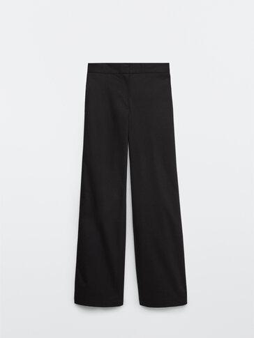 Μαύρο παντελόνι casual σε ίσια γραμμή