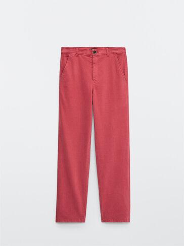 Pantalón chino corte recto