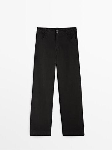 Pantalón recto algodón