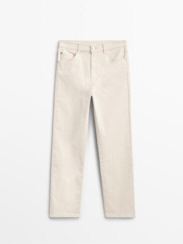Obojene hlače visokog struka