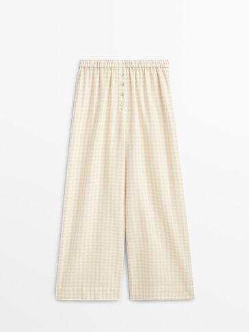 Gingham pyjama bottoms