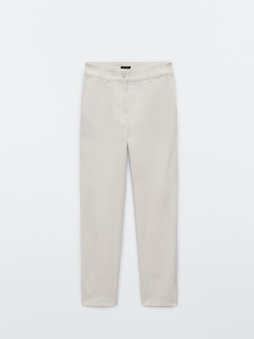 Хлопковые брюки чинос свободного кроя