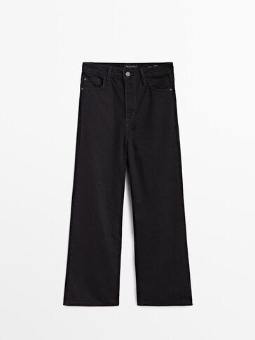 Τζιν παντελόνι cropped με φαρδύ μπατζάκι