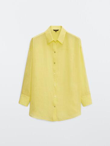 Oversized 100% ramie blouse