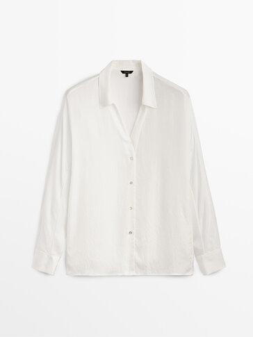 Χυτό πουκάμισο από ιδιαίτερο ύφασμα