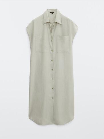 Μακρύ σεμιζιέ πουκάμισο-φόρεμα