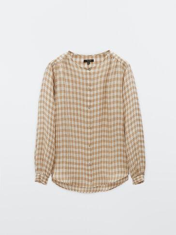 100% linen gingham shirt