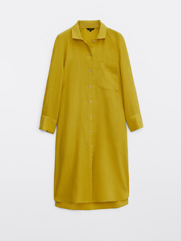 100% linen oversize blouse