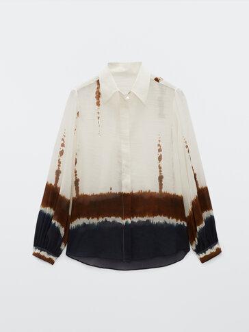 Πουκάμισο tie dye από βαμβάκι και μετάξι