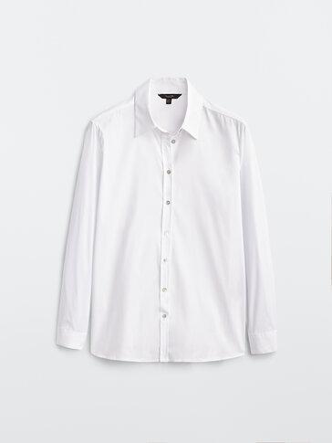 Ελαστικό πουκάμισο από βαμβάκι