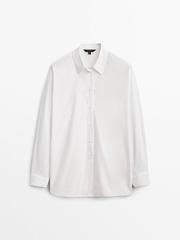 Poplin shirt with darted back
