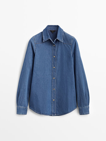 Džínová košile ze 100% bavlny