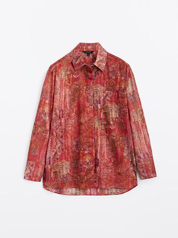 Camisa estampada 100% algodón
