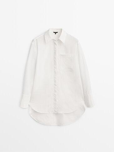 قميص مزيّن بالدانتيل