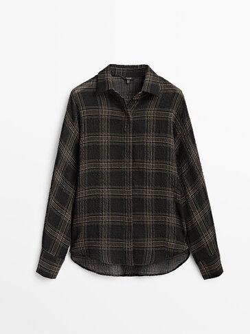 Καρό πουκάμισο με γιακά πόλο