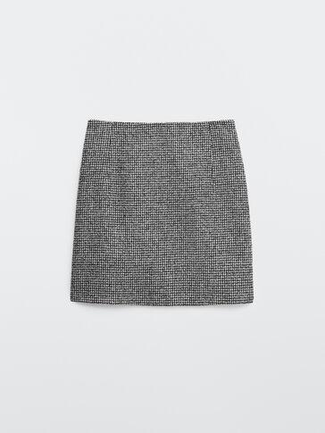 חצאית מיני עם הדפס פפיטה