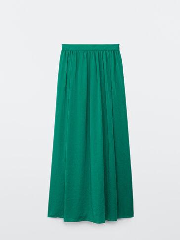 Long flowing skirt
