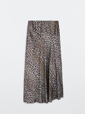 Long animal print skirt