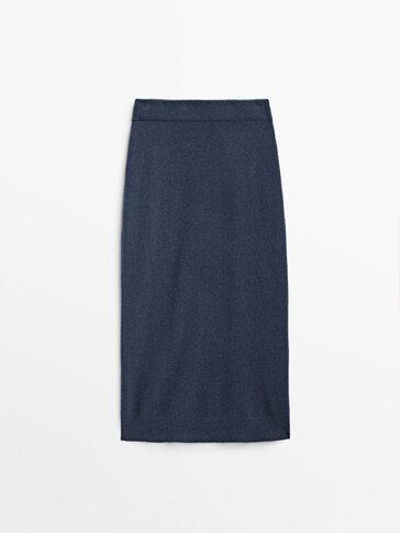 Boiled wool knit skirt