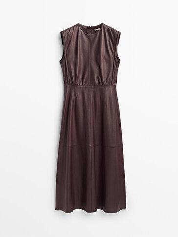 Langes Kleid aus Nappaleder Limited Edition