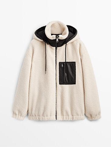 Obojestranska jakna iz flisa s kapuco