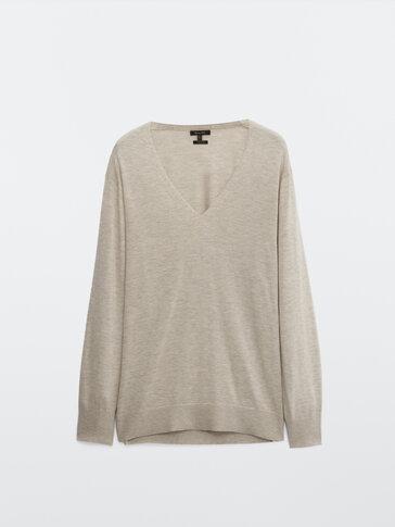 Flowing knit sweater