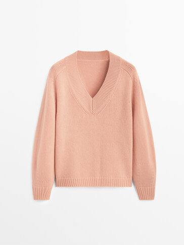 Cashmere wool V-neck sweater Limited Edition
