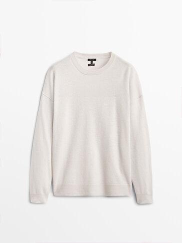 Cashmere wool sweatshirt sweater