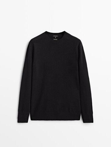 100% 캐시미어 라운드넥 스웨터