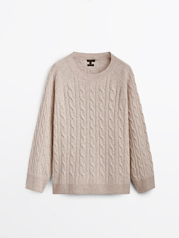 Cashmere wool cable knit sweater