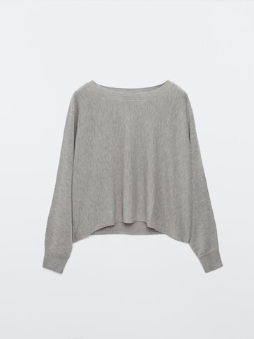 Cropped flowing sweater