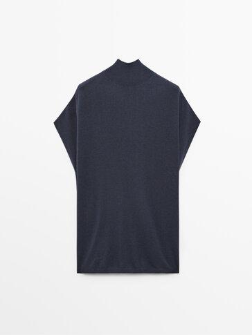 Jersey de punto fluido sin mangas