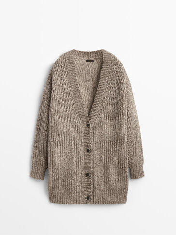 Purl knit cardigan Limited Edition