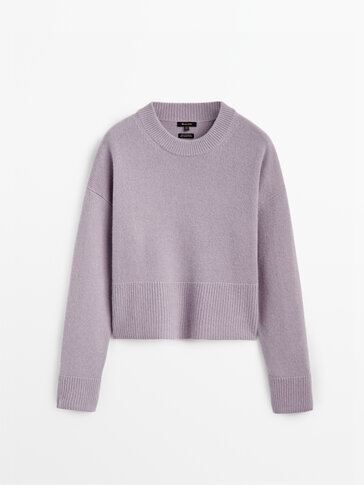 100% cashmere knit sweater