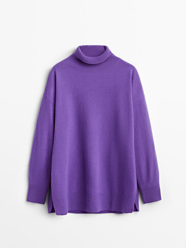 Cashmere wool cape sweater