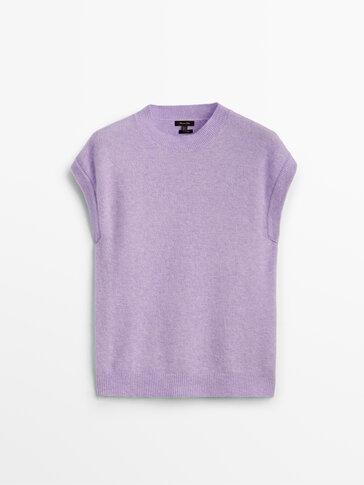 Wool knit vest