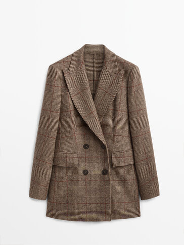 Checked wool blazer Limited Edition