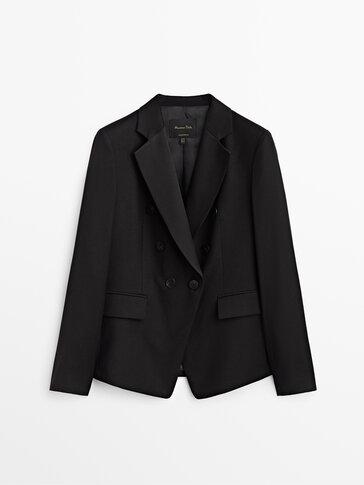 Wool flannel suit blazer