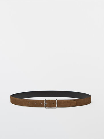 Split suede belt