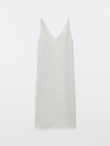 Robe longue à bretelles