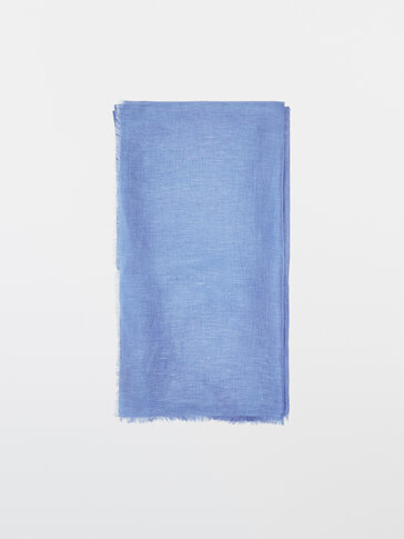 Modal and linen scarf
