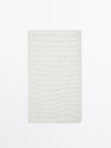 Ribbed cashmere wool scarf