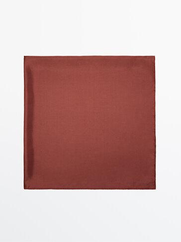 Faded-effect silk scarf Limited Edition